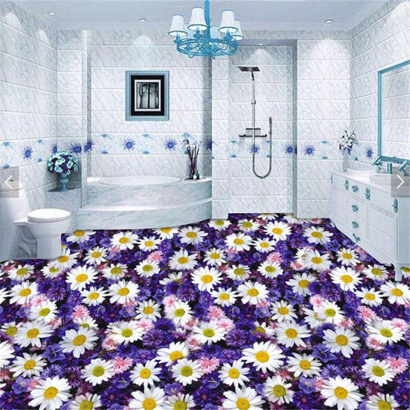 Fleurs Tapis 3d Sols Mural Photo Papier Peint Maison Imprimer
