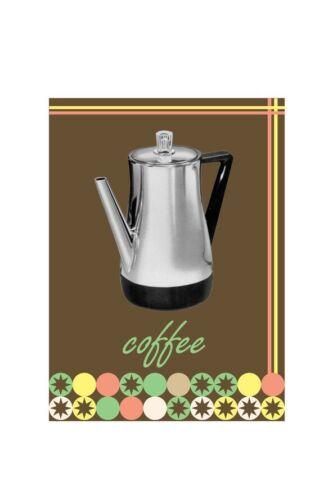 Bar Art Kitchen Art Coffee Print Retro Kitchen - Coffee Pot Vintage