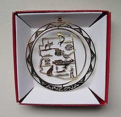 Arizona Brass Ornament State Landmarks Travel Souvenir Gift