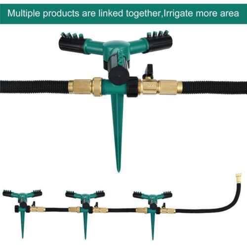 360°drehbarer Rasensprenger Automatischer Wassersprinkler Rasensprühanl UE