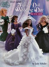 Crochet Fashion Doll Wedding Day Bridesmaid Thread Crochet