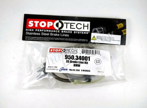 STOPTECH STAINLESS STEEL SS BRAIDED FRONT+REAR BRAKE LINE KIT FOR 98-02 BMW Z3 M