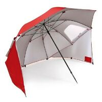 Sport-brella Umbrella, Instant Protection Portable Sun & Weather Shelter, Red