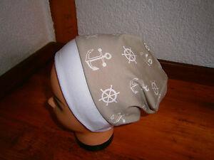 ♥Neu-Handmade♥<wbr/>Marine-Anker♥B<wbr/>eanie♥ Mütze♥Kindermü<wbr/>tze♥Gr.38-54♥D<wbr/>awanda♥