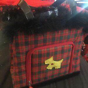 Girls-red-tartan-look-handbag-with-concealed-opening