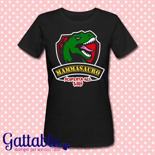 dinosauro PERSONALIZZABILE CON IL TUO ANNO DI NASCITA T-shirt donna Mammasauro