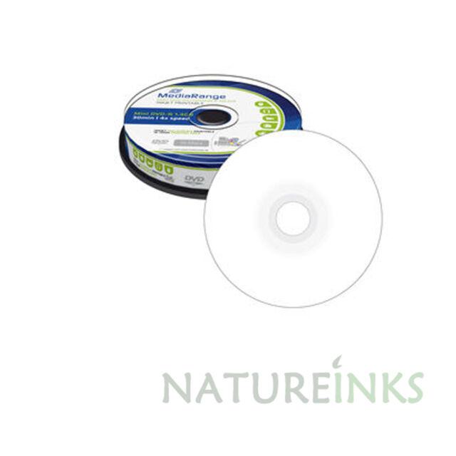 50 MediaRange 8cm Printable Mini blank discs DVD-R 1.4GB 4x DVD camcorder MR430