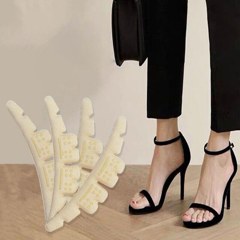 Anti-wear Heel Insoles Pain Relief Anti-slip Self-adhesive Heel Liner Grip Xu48