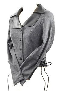 NEW-GREY-TWEED-FITTED-JACKET-STEAMPUNK-MILITARY-COAT-HERRINGBONE-XS-S-M-L-XL