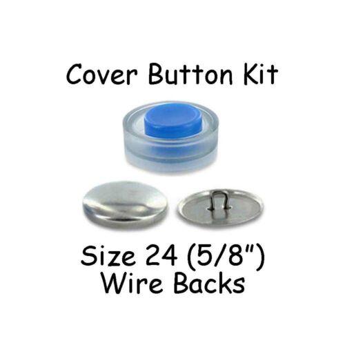 Avec Outil-Fil dos Taille 24 fait 10 5//8 pouces Housse boutons Starter Kit