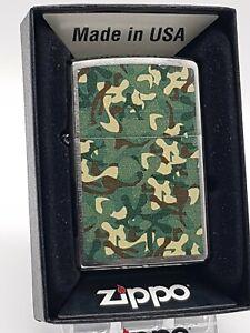 Original Zippo - Military Camo Camouflage Muster  - 2015 -  Neu