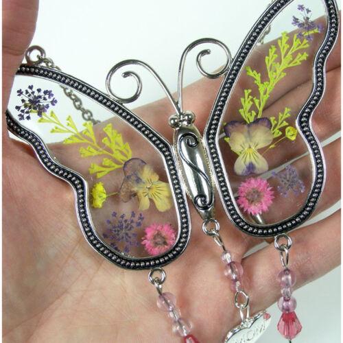Mothers Day Gift Butterfly Suncatcher Mom Fashion Jewelry Women Heat Charm Glass