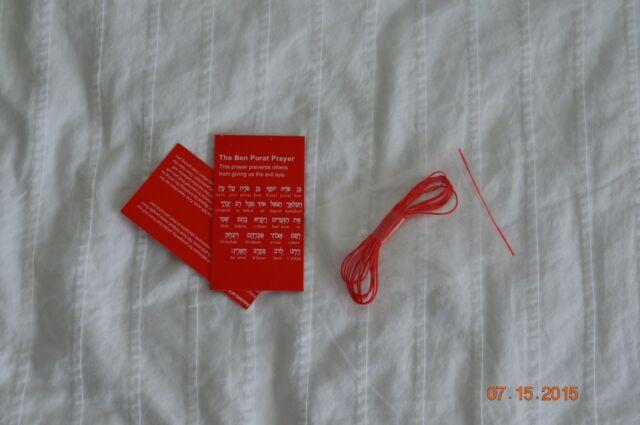 6 Red String Kabbalah Evil Eye Protection Bracelet From Rachel/'s Tomb Красная