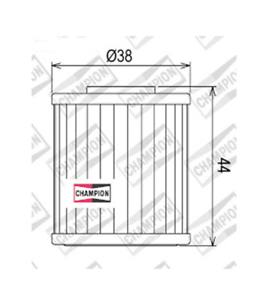 Suzuki-RMX450-Z-L0-L1-L2-L3-450-2010-gt-2013-FILTRE-A-HUILE-CHAMPION-COF107