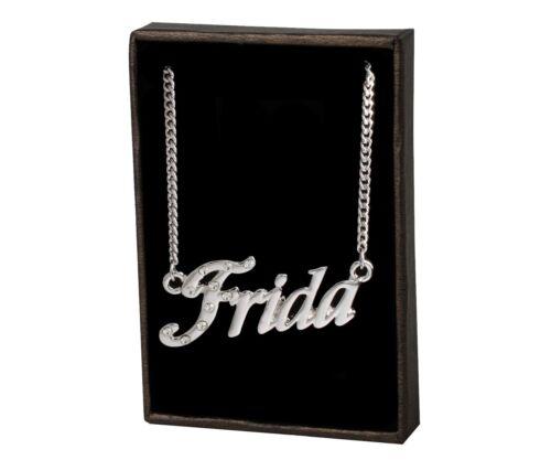 "Namensketten /""FRIDA/""–18K VergoldetGeburtstag Freundschaft Muttertag Mode"