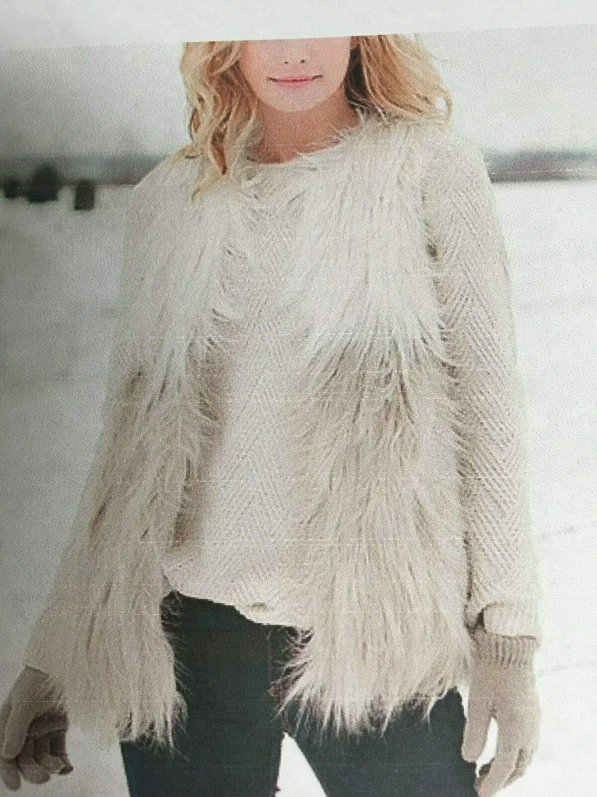 kvinnor Salyer s Faulous Faux Fur Vest Storlek
