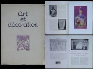 ObéIssant Art Et Decoration - Mai 1920 - Maurice Marinot, Marquet, Theatre, Fauconnet Artisanat Exquis;