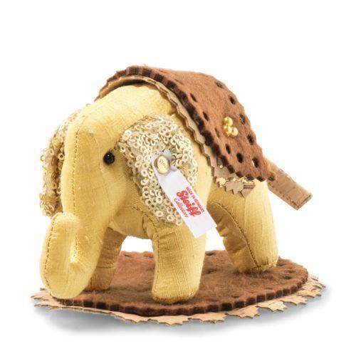Steiff Edizione Limitata progettisti scelta Elefante EAN 006265 + scatola 13cm oro NUOVO