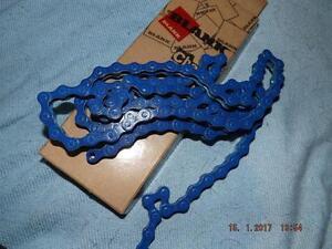 BLANK-Z410-BLUE-SINGLE-SPEED-BMX-CHAIN-BRAND-NEW