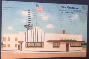 VTG-Postcard-The-Rotisserie-Restaurant-Jackson-Mississippi-Postmark-1942-C1