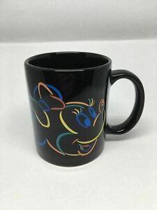 K3) Minnie Mouse Walt Disney Black Neon Colors Outline Logo Coffee Tea Mug