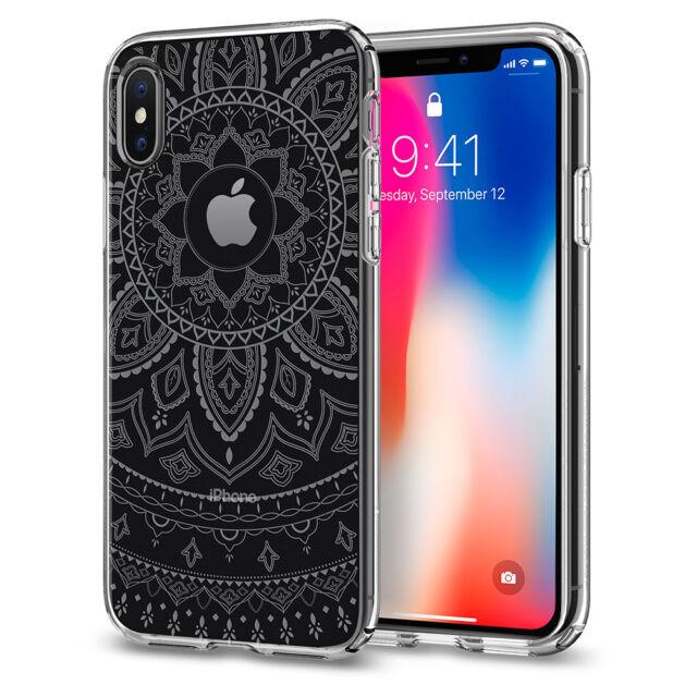 quality design 55360 bddaa Spigen iPhone X Case Cover for Apple TPU Ultra Thin Slim Protector Mandala  Clear