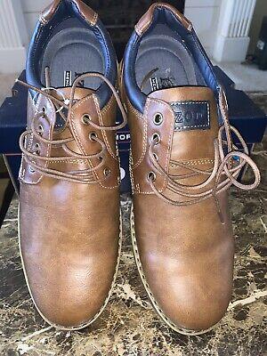 izod memory foam shoes laceup mens size 12m brown casual