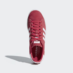 wholesale dealer d5e25 029ed Image is loading Women-Adidas-DB1018-Campus-Running-shoes-red-white-