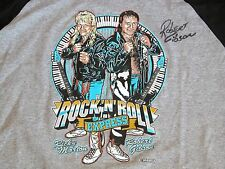 New Rob Gibson Ricky Morton Wrestling Rock n Roll Express Signed T Shirt XL
