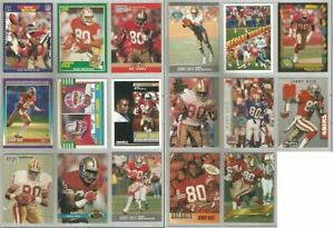 Jerry-Rice-San-Francisco-49ers-17-card-1989-1993-lot-all-different
