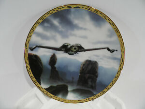 Star-Trek-Klingon-Bird-of-Prey-Plate-0448-A-W-CERT