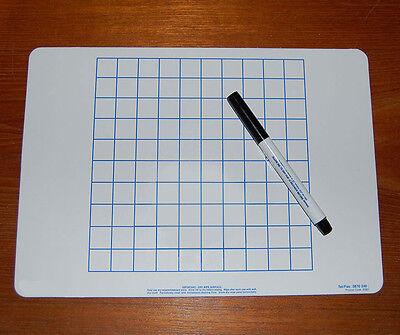 A4 Calcolo Matematica Griglia Lavagna & Set Di Penne-mostra Il Titolo Originale
