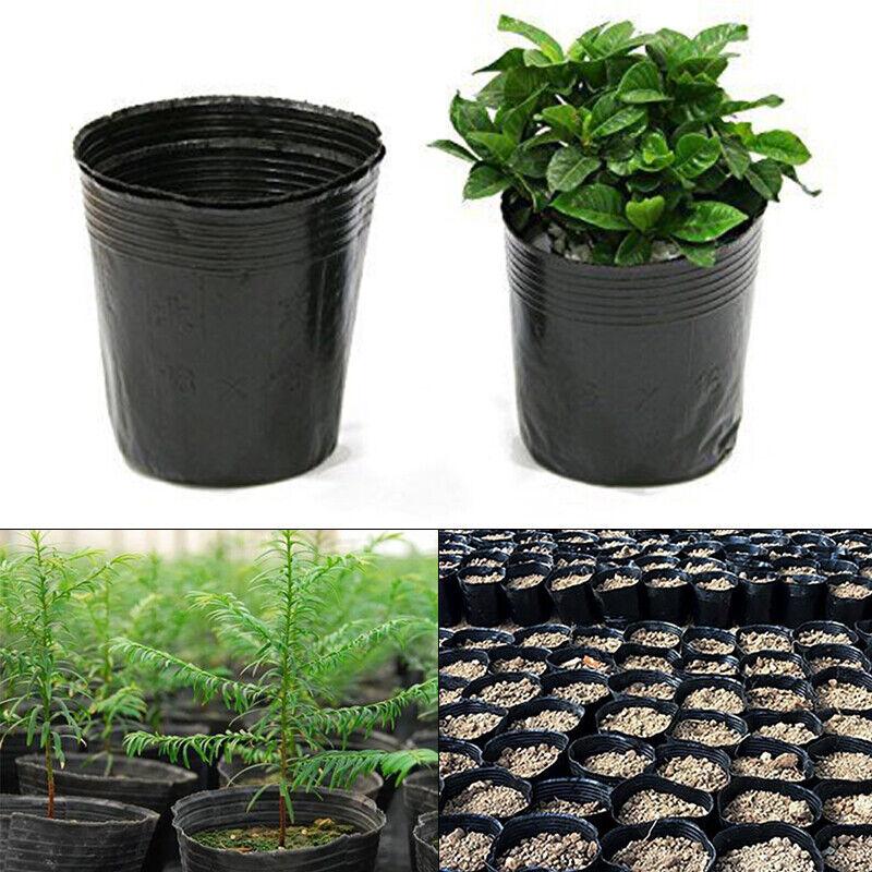 100 Plant Pots Small Plastic Flower Pot Nursery Gardening DIY Flower Vases