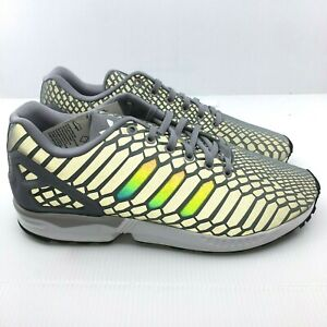 sports shoes f8683 b9c86 Details about Adidas ZX Flux B24442 shoes mens new sneakers GREY Xeno  Reflective 3M RARE