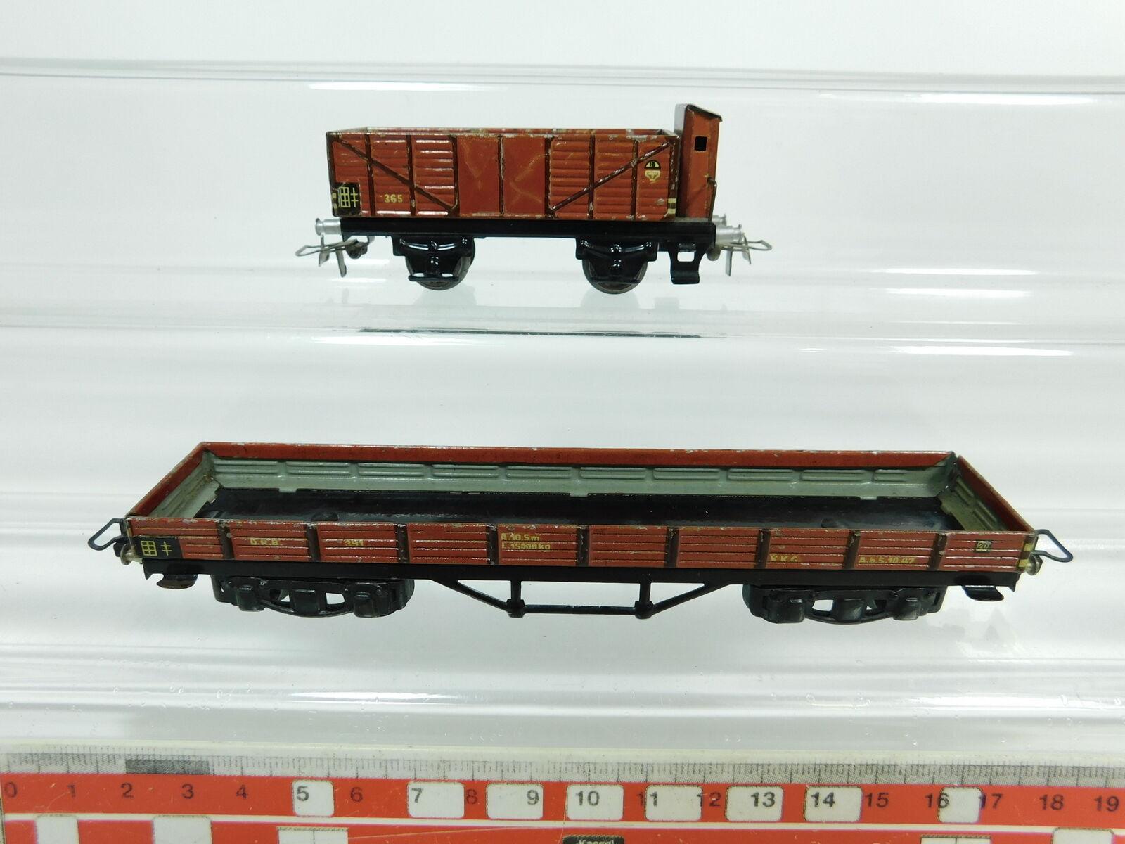 BC996-0,5x Märklin H0 00 AC Güterwagen  391 Niederbordwagen+365 Hochbordwagen