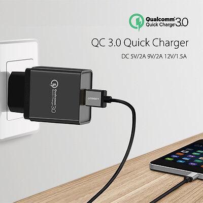 Chargeur Rapide Ugreen Qualcomm Quick Charge 3.0 Adaptateur Secteur USB 18W EU