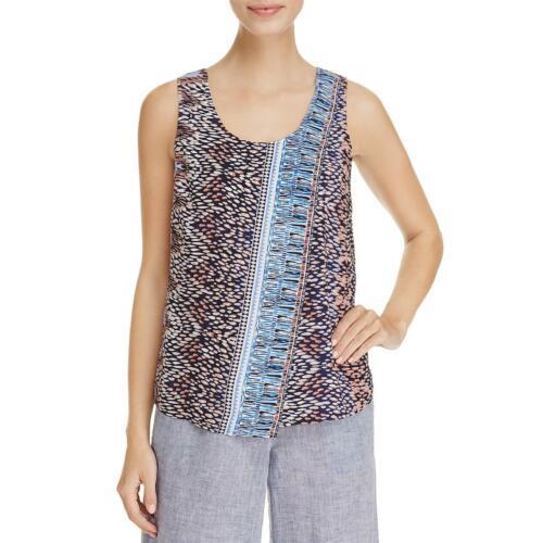 Nic Zoe Womens Printed Sleeveless U-Neck Tank Top Shirt BHFO 7172