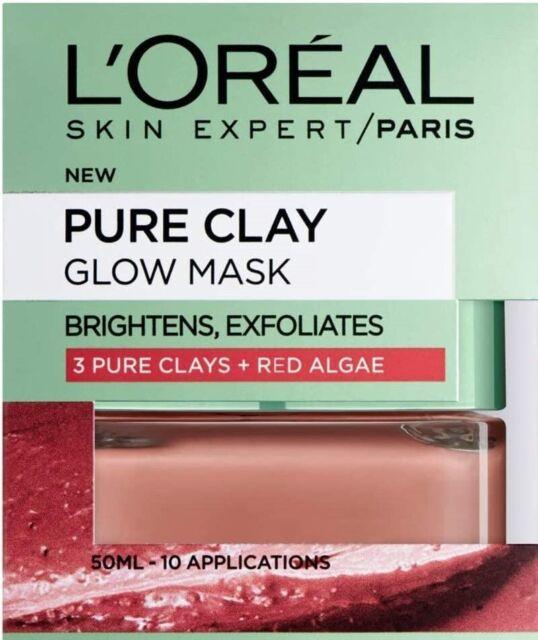 Skin Expert L'Oreal Paris Face Mask Pure Clay Glow, 50 ml