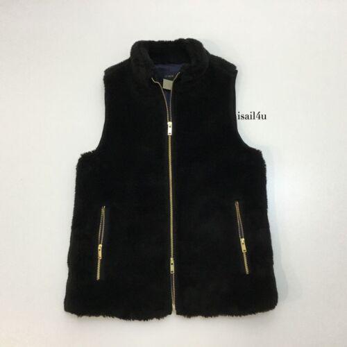 XXS-XL J Black Size Crew Plush Fleece Excursion Vest NWT Color