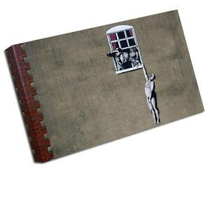 Banksy Cheating Épouse Toile Estampe Image Murale Ba19 petit - 12 pouces x 8 pouces, moyen 16 pouces, grand 24 pouces, xlarge 30 20 pouces, xxlarge 36 pouces, xxxlarge 42 pouces, xxxxlarge 48 pouces, échantillon C