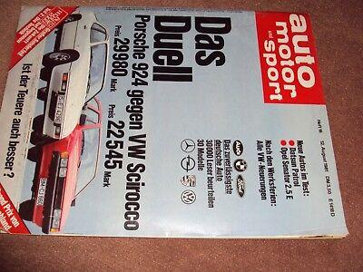 Porsche 924 Gegen Vw Scirocco Hohe Belastbarkeit Automobilia Trendmarkierung Ams Auto Motor Und Sport Heft 16 8/1981 Auto & Motorrad: Teile