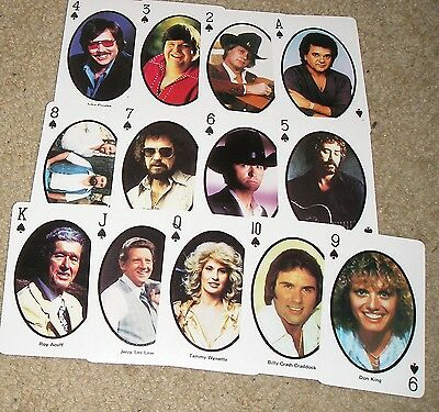 54 Country Western Music Singer Photos Standard Deck Playing Cards Elvis Jerry l