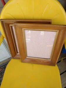 Vintage-Wood-Gold-Tone-Picture-Art-Photo-Frame-Lot-Pair-wide-pair-9x11-10x12