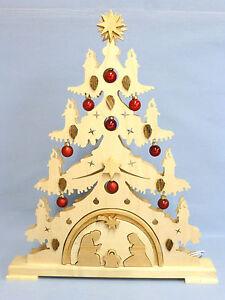 laubs gevorlage f r einen doppelten lichterbogen weihnachtsbaum mit krippe ebay. Black Bedroom Furniture Sets. Home Design Ideas