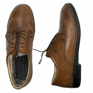 Finn-Comfort-Men-s-Sz-12-Comfort-Oxfords-Shoes-Lace-Up-Brown-Leather-Germany-EUC