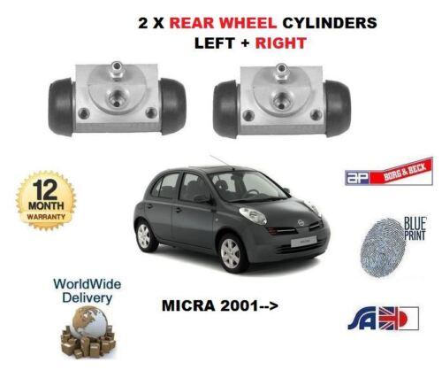 Pour Nissan Micra K11 1.2 2002-2010 Nouveau 2 x Frein Arrière Roue Cylindres