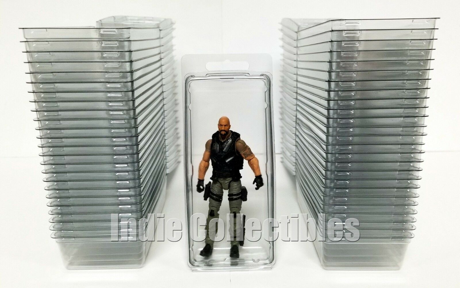 GI JOE BLISTER CASE LOT OF 50 Action Figure Display Predective Clamshell LARGE