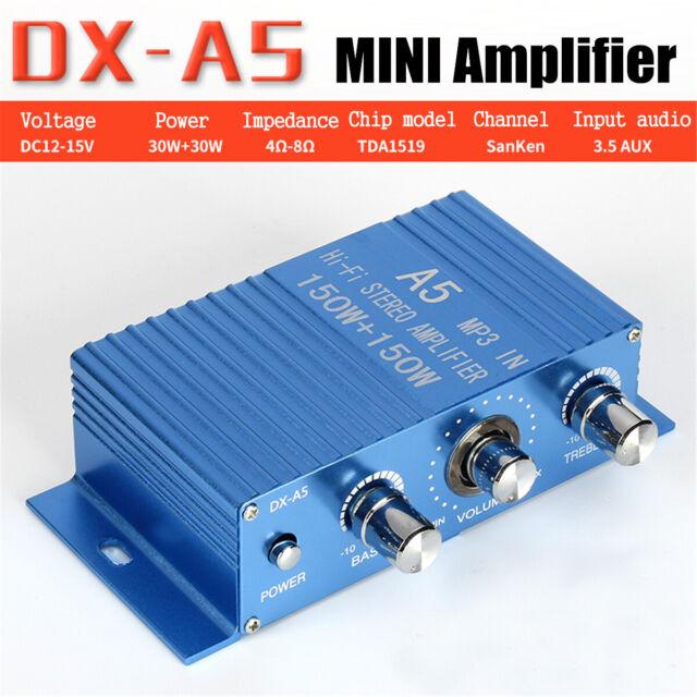 DC12-15V 2.0 HI-FI Stereo Audio Power Amplifier For Car Computer Desktop Speaker