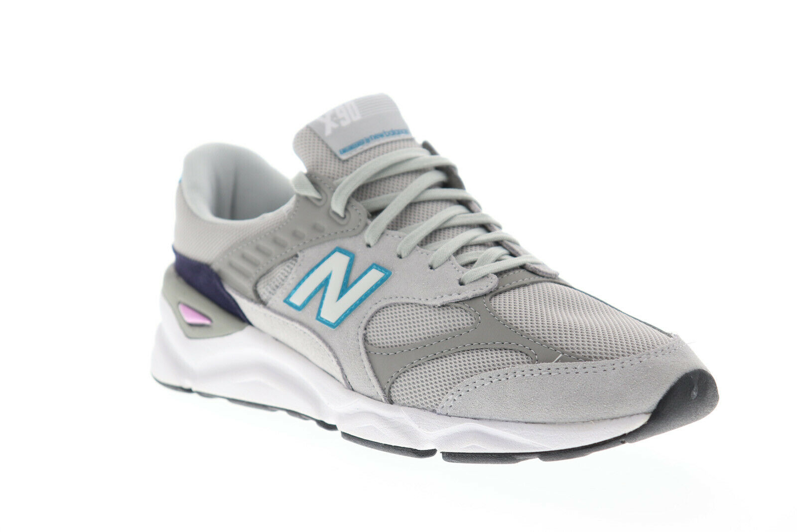 New Balance X 90 MSX90RCE Mens Gray Mesh Suede Casual Low Top Sneakers Shoes