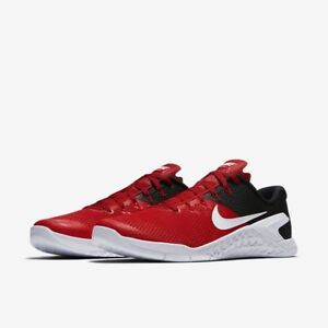 Mens-Nike-Metcon-4-University-Red-Black-White-Training-Crossfit-Shoes-AH7453-600